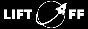 Lift-off logo white